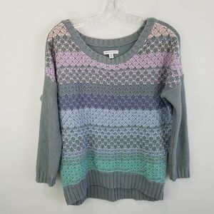 American eagle knit pastel sweater